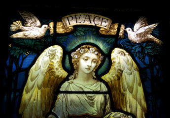 Angel withe doves and peace