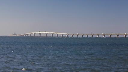 Tokyo Aqua-Line Highway bridge tunnel