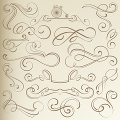 Vintage Curlicues, Dividers and Vignettes