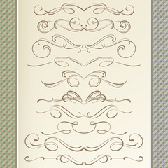 Graceful Calligraphic Dividers and Vignettes
