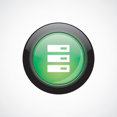 server sign icon green shiny button