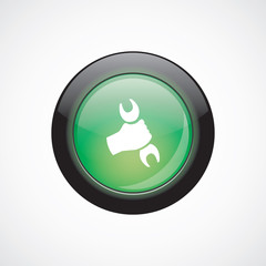 repair sign icon green shiny button