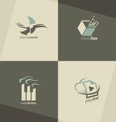 Music logo design concepts