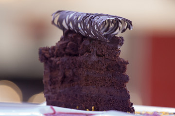 Black chocolate cake