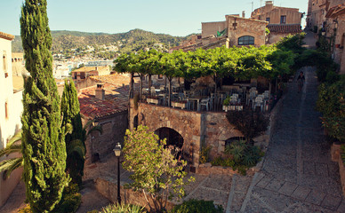 The view of Tossa de Mar from Castle.