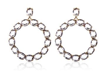 big round luxury gemstone earrings