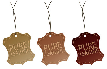 Pur leather tag