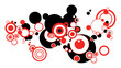 Abstract red circles illustration