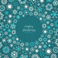 Snowflakes vector background with place for text