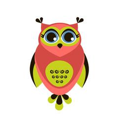 Cute red owl