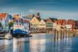 Leinwanddruck Bild - Town of Husum, Nordfriesland, Schleswig-Holstein, Germany