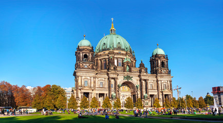 Berliner Dom panoramic overview on a sunny day