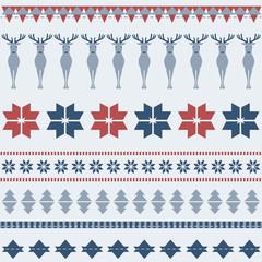 Winter ornamental pattern with deer