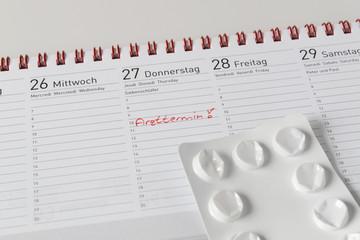Notiz im Kalender für Arzttermin