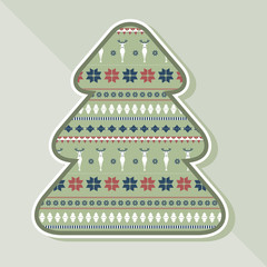 Christmas tree with ornamental texture