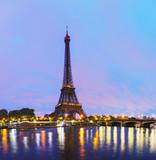 Paris cityscape with Eiffel tower - 73567850