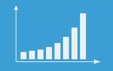 Bar graph with arrows axis. Animation.