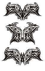 Eyes symbols in tribal style