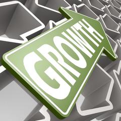 Growth green arrow