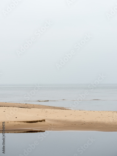 Baltic Sea and foggy morning - 73568478