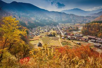 Shirakawa-go village in Gifu prefecture, Japan