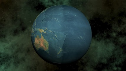 Seamless looping earth - 3D render