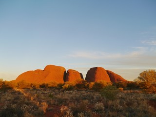 The Olgas in the red district of Australia