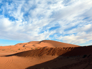 Steep Slopes of Sahara Desert Dunes