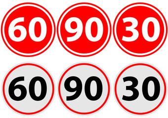 traffic sign limit speed