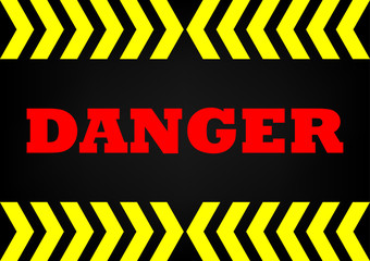 Abstrack background danger sign