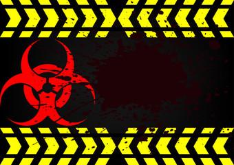 bio hazard symbol dirty blood