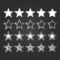 Star Icon Set On Blackboard