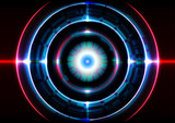 technology abstract background circle light effect