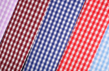 Textile plaid cotton materials