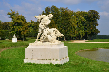 France, the classical park of Marly le Roi