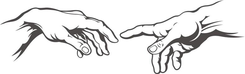 Hand to hand tattoo Creation of Adam