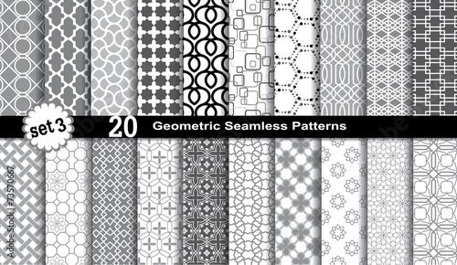 Zdjęcia na płótnie, fototapety, obrazy : Geometric Seamless Patterns.