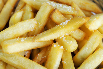 Close up french fry food