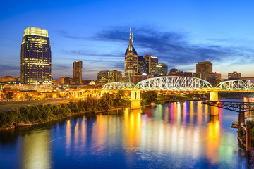 Nashville, Tennessee, USA Skyline on the Cumberland River