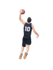 slam dunk on white background