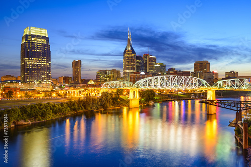 Nashville, Tennessee, USA Skyline on the Cumberland River