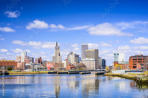 canvas print picture Providence, Rhode Island Skyline on Providence River