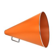 Orange bullhorn