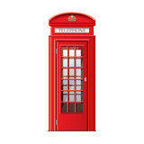 London phone booth isolated on white vector