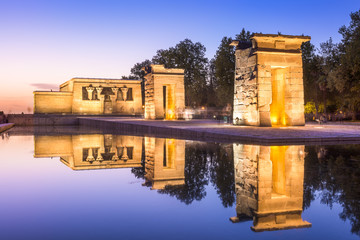 Temple Debod of Madrid, Spain