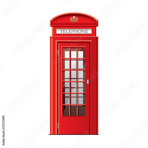London phone booth isolated on white vector - 73572499