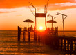 Leinwanddruck Bild - Evening Meditation Way to Sunset