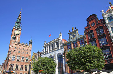 Old Town Hall in City of Gdansk, Poland
