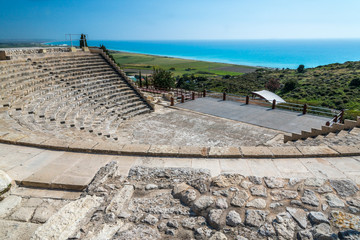 Cyprus - ancient theatre ruins at Kourion