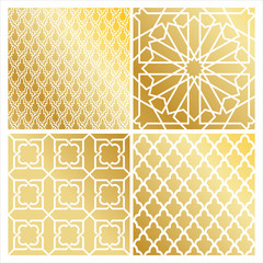 traditional golden islamic pattern